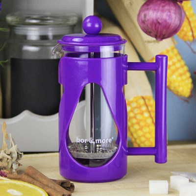 Borosilikat Cam Mor French Press 350 ml