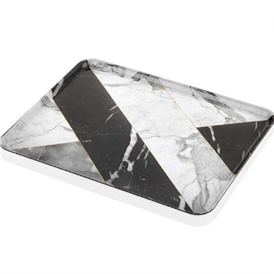 Kraft Tepsi Marble Black - The Mia